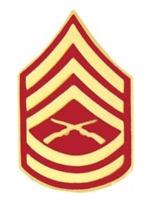 "Marine Corps Gunnery Sergeant (GySgt / E-7) Rank Insignia Pin - 14391 (1 1/8"")"