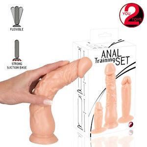 you2toys Anal Training Set Realistic Dildos Dildo Morbido Flessibile con Ventosa