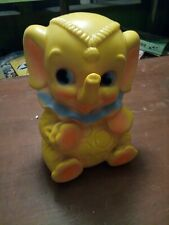 "Vintage 1969 Dreamland Creations 7"" Baby Circus Elephant Piggy Bank"