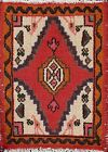 Vintage Geometric Traditional Oriental Area Rug Hand-knotted Wool Carpet 1x2 Red