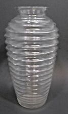 Anchor Hocking Clear Glass Horizontal Ribbed  Flower Vase Jar