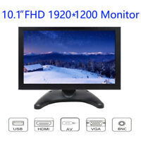 10 inch Monitor FHD 1920x1200 with Video Audio VGA AV BNC HDMI for Camera CCTV