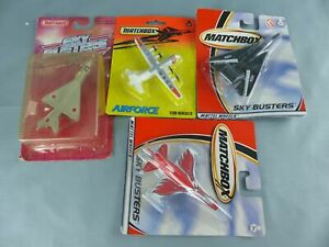 4 x MATCHBOX SKYBUSTERS c130 Hercules M1G21 F-16 F-14 militaire avions NEUF