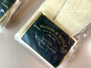 2x Waters & Noble Premier Collection Luxury Tie-Backs Suedette Biscuit by Dunelm