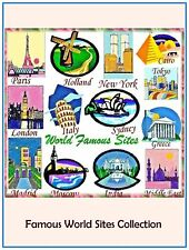"Australian Site "" FAMOUS WORLD SITES "" 30 Embroidery Design CD or Janome CF Card"