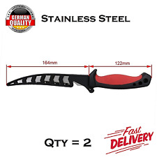 2x FILLET FISHING HUNTING KNIFE BAIT Willow Blade Knife Stainless Steel