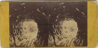 Suisse Ghiacciaio Foto Vintage Stereo Albumina