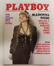 Playboy Magazine SEPT 1985 MADONNA excellent condition