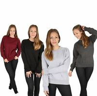 New Women Ladies Girls Plain Raglan  Jumper Sweatshirt Casual Top S/M/L/XL