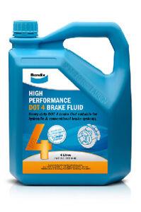 Bendix High Performance Brake Fluid DOT 4 4L BBF4-4L fits Peugeot 206 1.4 16V...