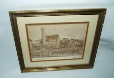 "FRAMED FLORENCE TAYLOR ""FENCE AROUND THE AMISH"" DRAWING #72  LOOK!!!!"