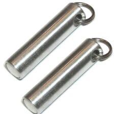 2 pcs Metal Test Magnet Keychain Test Ferrous, Brass, Gold, Silver Km02 6 lb