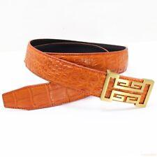 Genuine Alligator Crocodile Belt Skin Leather Men's, W4.0cm, WITHOUT JOINTED