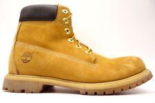 "Timberland Womens 6"" Premium Casual Waterproof Wheat Boots Size 9"