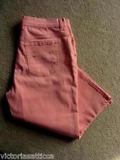 Gloria Vanderbilt Peach/Pink Stretch Cropped Bling Jeans Style Capris -12 M