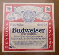 VINTAGE CANADIAN BEER LABEL - CARLING O'KEEFE BREWERY, BUDWEISER BEER 341ML #2