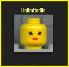 LEGO  Minifig Head Female with Red Lips, Eyelashes Standard Woman YELLOW NEW