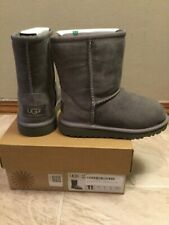 NIB UGG AUSTRALIA Classic Gray Boots Size US Toddler 11 KIDS NEW IN BOX