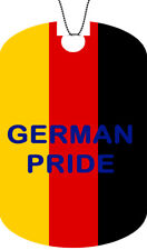 GERMANY flag Adult Dog Car Tag Chain GERMAN Necklace PRIDE Version