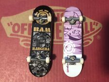 Bam Margera Element Tech Deck Lot of 2 with Display Rack