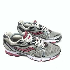WOMENS SAUCONY GRID STRATOS 5 GRAY PINK RUNNING TRAINING SHOES SIZE 7.5M i535