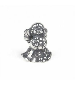 THUN by Trollbeads Bead in Argento Angelo con Fiore TAGBE-30159 ORIGINALE
