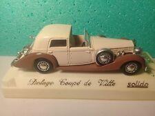 Véhicule Solido 1/43 Age d'Or - Delage D8-120 - Coupé ville 1939
