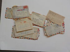 11 WWII Letters Soldier APO Shrewsbury Massachusetts WW II VTG World War Two WW2