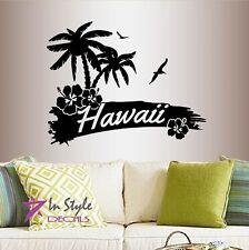Vinyl Decal Hawaii Tropical Beach Island Palm Trees Vacation Wall Decor 753