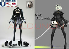 "1/6 Nier Automata YoRHa No.2 Type B Head Costume Set For 12"" Phicen Hot Toys USA"