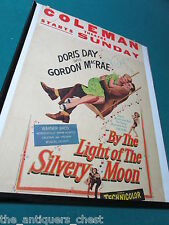 RARE Doris Day / Gordon Macrae BY THE LIGHT OF THE SILVERY MOON 1960 poster