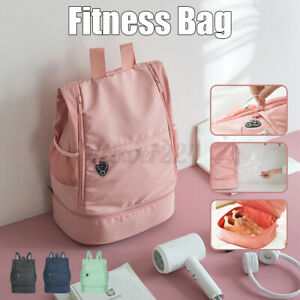 Fitness Bag Sport Backpack Outdoor Travel Duffel Tote With Shoes Compartment