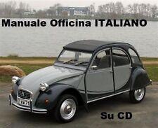 CITROEN 2Cv Dyane Mehari 3cv Manuale Officina Riparazioni Manutenzione ITALIANO