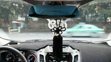 A Set New VIP Car Charm JDM Fusa Black Kiku JP Knot & White Kin Tsuna Rope