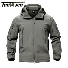 TACVASEN Waterproof Mens Jacket Tactical Winter Coat Soft Shell Military Jackets Tree 2xl ( UK Size L )