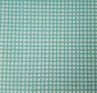 Happy Cats BTY Loralie Harris Quilting Treasures Deep Aqua Blue Plaid on White