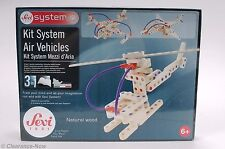 Sevi System Wooden Building Kit Toy 3 in 1 Air Vehicles 6+ Italy Sealed New 4935