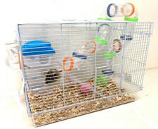 New listing Acrylic 2-Levels Hamster Habitat Rodent Gerbil Mouse Mice Rats Clear Animal Cage