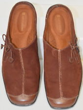 Naturalizer Clogs Women Size 8M Mules Slip On Leather Suede Brown