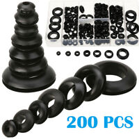 200PCS ASSORTMENT RUBBER GROMMET KIT SET FIREWALL HOLE WIRE WIRING ELECTRICAL