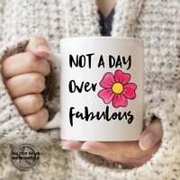 Fabulous Birthday Gift Mug Floral Mug Gift For Her Coworker Mug Birthday Coffee