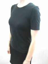 Wolford Size M or 12 Black Fitted Cotton Velvet Luxurious Top