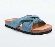 Cheap Monday Blasé Knot Sandals in Denim Urban Outfitters SZ 38