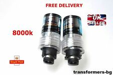 D2S 8000K HID XENON PAIR / Two REPLACEMENT BULB Lamp Blue Light New DS2 Pair