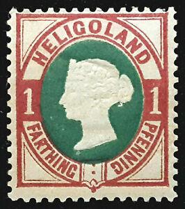 HELIGOLAND 1875-90 SG10 1pf. (¼d.) DEEP GREEN AND ROSE  -  MNH CV £16.00