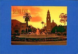 Postcard The Beautiful Balboa Park Sunset California Tower San Diego. P