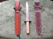 Cudeman Knives Hunting and Mountain Dagger w/ Lf Custom Leather Sheath