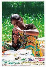 (38210) Postcard -  India - Banjara Woman with mobile phone