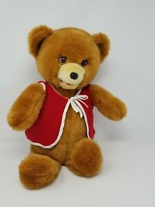 """Vintage Cassette Playing Story Telling Teddy Bear Plush 20"""" Moving Eyes Mouth"""