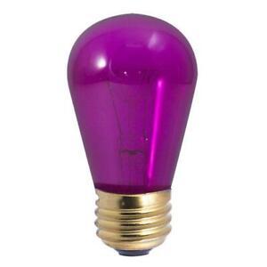 Bulbrite Incandescent S14 Medium E26 Base Light Bulb - 11W, Transparent Purple
